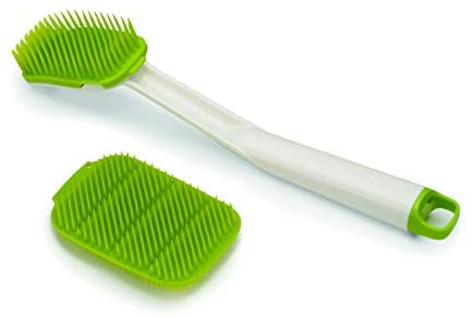 Joseph Joseph CleanTech Dish Brush and Reusable Sponge Scrubber Set Hygienic Quick-Dry, Green: Home & Kitchen