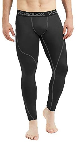 Roadbox Men's Compression Pants Base Layer Cool Dry Tights Leggings : Clothing