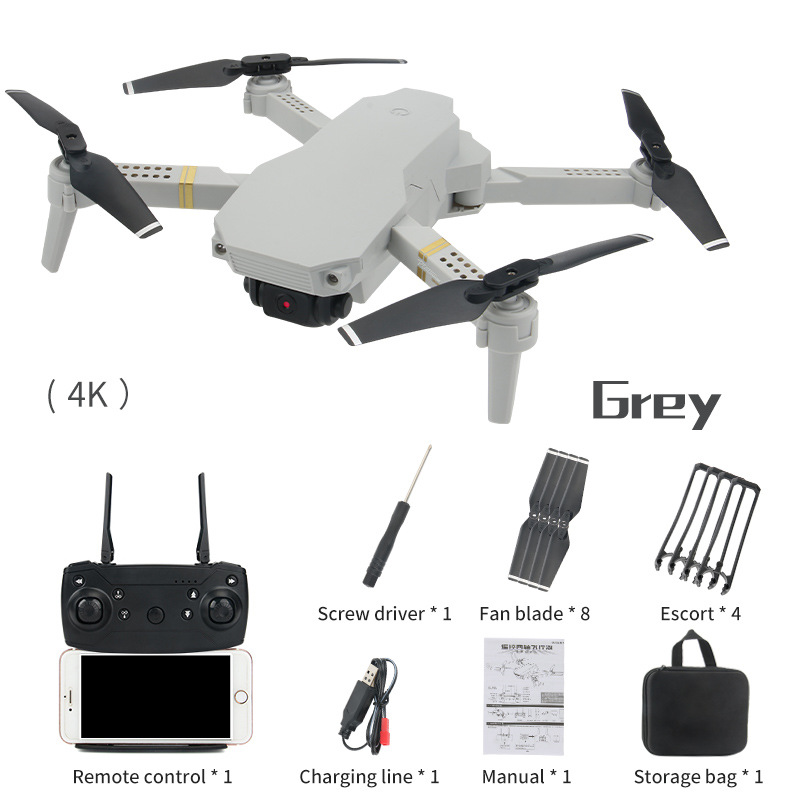 E50  Mini Folding Drone HD 4K Aerial Photography Fixed Height Quadcopter Toy Wish Helicopter-