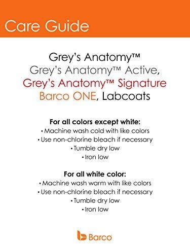 Grey's Anatomy Women's 4153 Junior-Fit Three-Pocket Mock-Wrap Scrub Top, Indigo, Medium: Medical Scrubs Shirts: Clothing