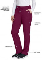 Grey's Anatomy 6-Pocket Flat Front Pant for Women– Modern Fit Medical Scrub Pant: Clothing