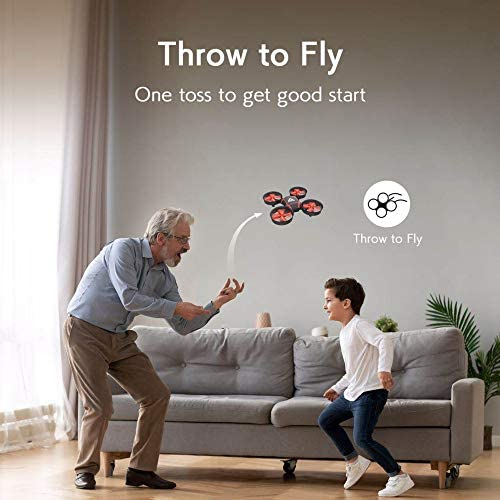 ATTOP Mini Drone for Kids and Beginners- Easy Remote Control Drone, One Key Take Off/Auto-Pairing/Altitude Hold/Throw to Fly Kids Drone, 2-Speed Setting with 3 Batteries Ideal Gift for Kids: Toys & Games
