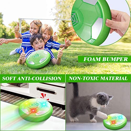 HOMOFY Kids Toys Hover Soccer Ball Set with LED Lights, Air Soccer with 2 Goals, Floating Soccer Ball with Foam Bumper, Fun Indoor Football Gifts for 2 3 4 5 6 7-12 Boys, Girls,Toddlers Toys: Toys & Games