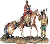 StealStreet SS-G-11392 Native American Family Collectible Indian Figurine Sculpture Statue: Home & Kitchen
