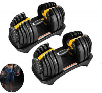 AHLSENFU ScelleBridal Adjustable Dumbbells, Workout Exercise Barbell Gym Equipment Barbell for Men and Women Home Fitness Weight Set Gym Workout Exercise Training with Connecting Rod : Sports & Outdoors