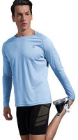 Xtansuo Men's UPF 50+ UV Shirt Long Sleeve Performance Outdoor Rash Guard T-Shirt for Fishing Hiking Running: Clothing
