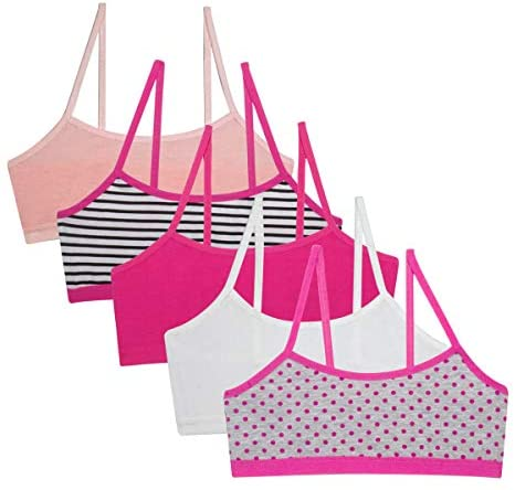 Simply Adorable Girls Training Bras Girls' 5-Pack Bralettes: Clothing