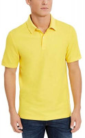 DKNY Men's Solid Pique Cotton Short Sleeve Polo Shirt at Men's Clothing store