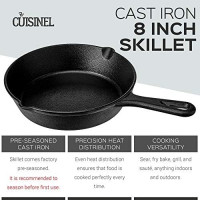 Pre-Seasoned Cast Iron Skillet (12-Inch) with Glass Lid and Handle Cover Oven Safe Cookware - Heat-Resistant Holder - Indoor and Outdoor Use - Grill, Stovetop, Induction Safe: Kitchen & Dining