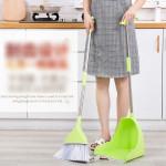 Magic Scraping Broom Set Plastic Long Handle Windproof Non-stick Hair Magic Broom Home