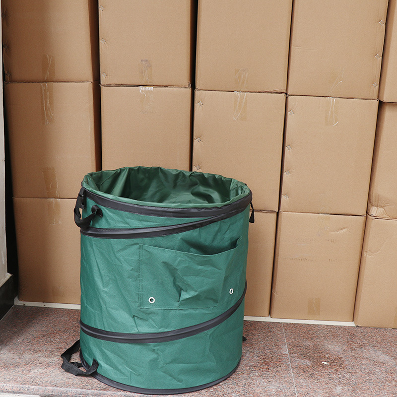 Portable Car Self-driving Outdoor Garden Folding Bucket Trash Can Leaf Trash Can Garden Leaves Bag
