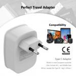 Travel Plug Adapter 2 USB Ports  Power Plug For Mobile Phone Tablets