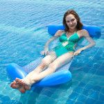 Adult Water Oversized Floating Row Net Hammock Beach Folding Backrest Luxury Inflatable Sofa Recliner Bed