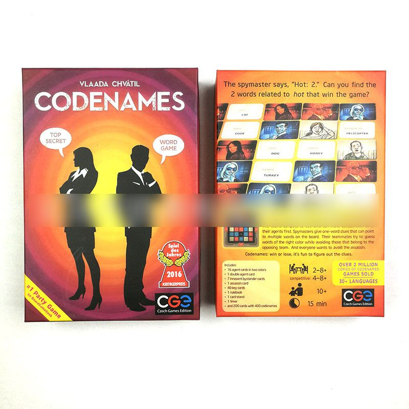 Codenames Action Code English Version Desktop Board Game Secret Code Poker Card Board Game Toys