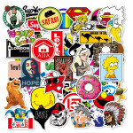 100 Sheets Of Non-repeating Waterproof Removable Models Cartoon Graffiti Trolley Case Stickers