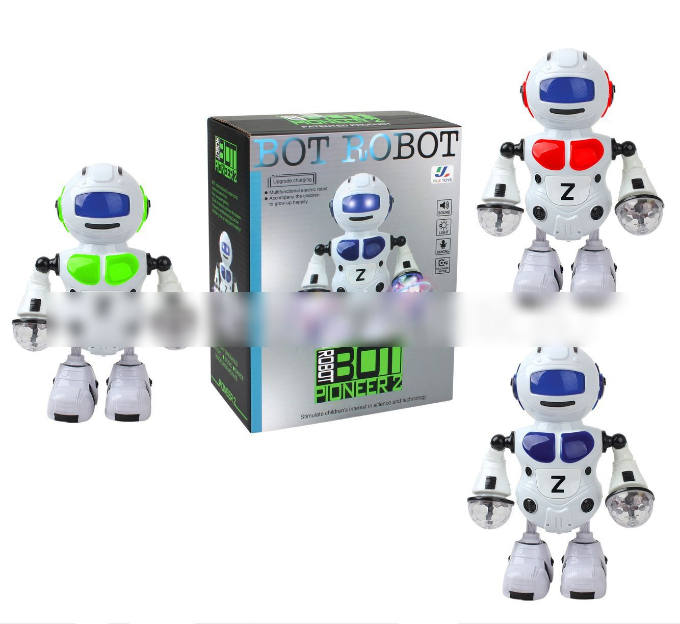 Colorful Light Music Dancing Robot Model Children Electric ...
