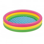 Three-layer Rainbow Round Pool Inflatable Sand Table Space Toy Sand Table Fishing Toy Small Pool
