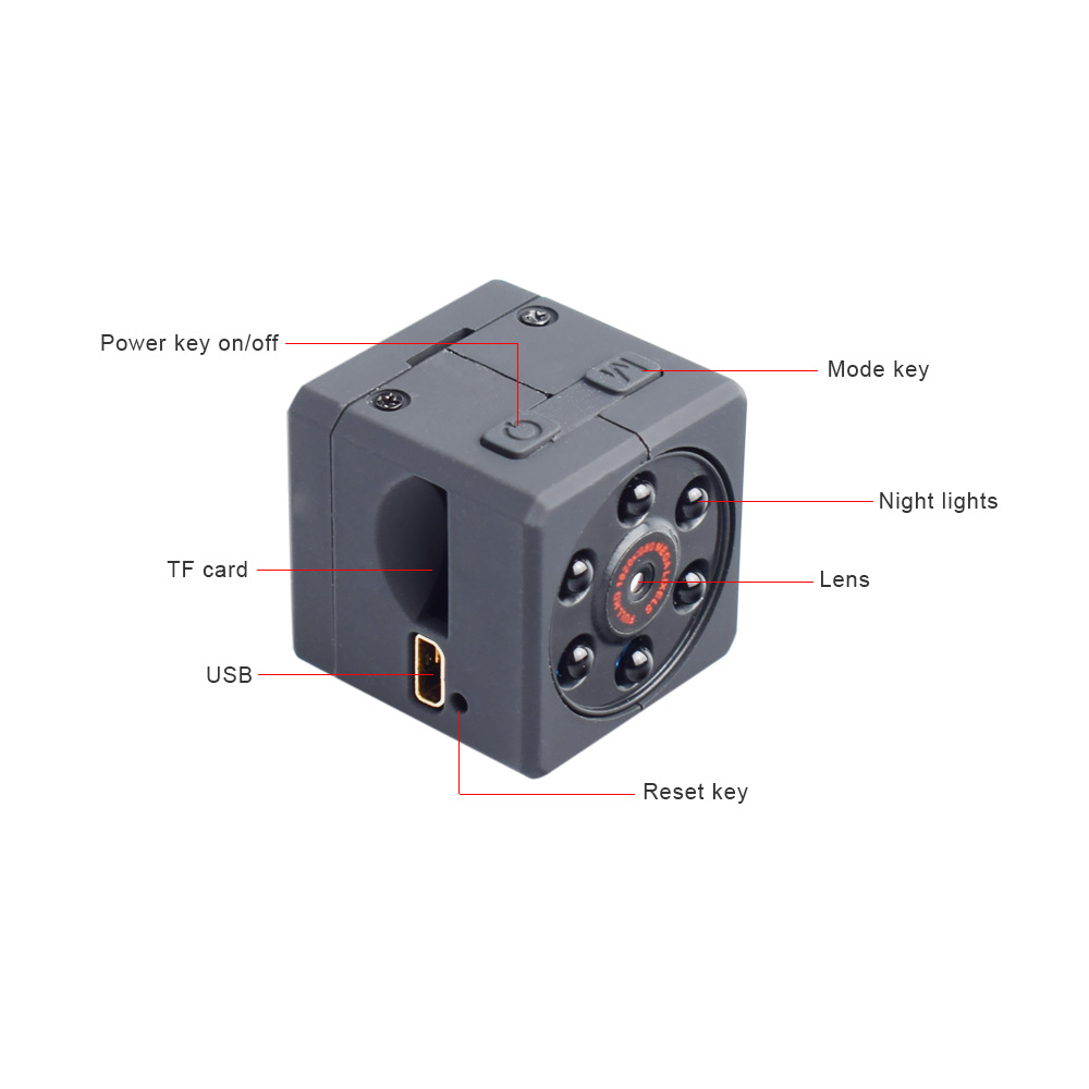 Small Magnetic Camera Night Vision Hd 1080p Sports Camera