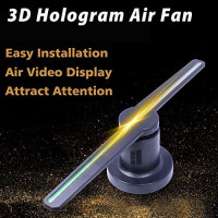 Holographic Advertising Machine 3D Wall-mounted rotation Naked Eye