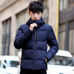 Winter Thickening Hooded Long Section Cotton Men's Warm Jacket