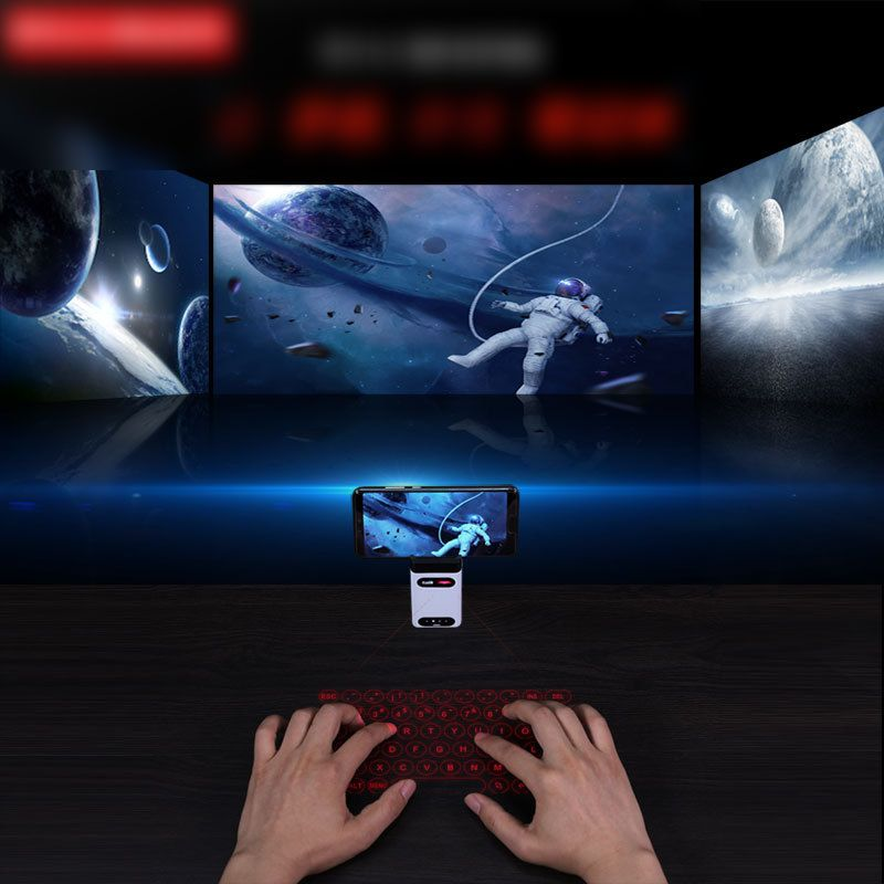 Bluetooth Laser Projection Keyboard + Mouse + Mobile Phone Bracket