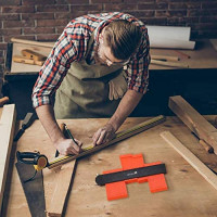 ZAITAR Shape Contour Gauge Profile Tool 10 Inch- Deep Shape Duplicator Template Tool Plastic Ruler Profile Gauge with Metal Lock-Precise Outline Gauge to Mark Odd Shapes on Tiling Laminate Woodworking