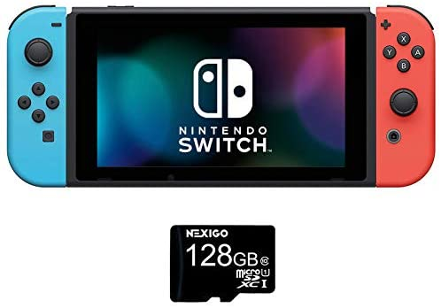 NexiGo Nintendo Switch Console - Animal Crossing: New Horizons Edition 128GB MicroSD Card Holiday Bundle: Electronics