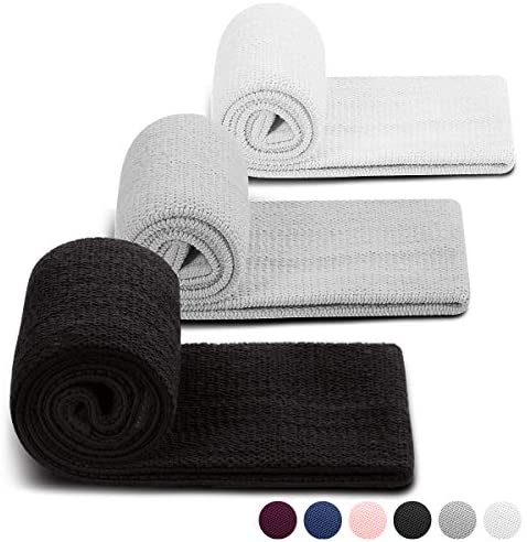 PlusYard Non Slip Fabric Resistance Bands for Legs and Butt, Elastic Hip Workout Bands Resistance for Women/Men, Home Workout Fitness Cloth Circle Band/Booty Band for Stretching at Home(Set 3) : Sports & Outdoors
