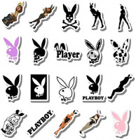 20 PCS Stickers Pack Playboy Aesthetic Bunny Vinyl Colorful Waterproof for Water Bottle Laptop Bumper Car Bike Luggage Guitar Skateboard: Home & Kitchen
