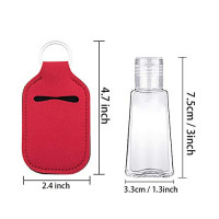SUBANG 24 Pieces Empty Travel Size Bottle and Keychain Holders Set Include 12 Pieces 30 ML Flip Cap Containers Reusable Travel Bottles, 12 Pieces Keychain Bottle Holders, 12 Colors : Beauty