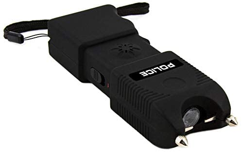 Police TW12 - 58 Bilion Heavy Duty Stun Gun - Rechargeable With Siren Alarm LED Flashlight : Sports & Outdoors