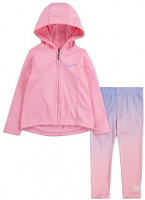 Nike Kids Baby Girl's Therma Zip Hoodie and Dri-FIT Leggings Two-Piece Set (Toddler): Clothing