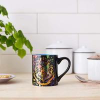 Silver Buffalo HP113932Z Harry Potter Hogwarts Crest Splatter ceramic Mug, 14 Ounces, Multicolor: Kitchen & Dining