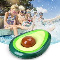 AERZETIX Inflatable Pool Float for Adults, Giant Avocado floaties with Ball, Large Water Rafts Float Toys Funny Pool Party Beach Swimming Lounger Decorations: Sports & Outdoors
