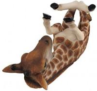 DWK - Tall Drink - Spotted Giraffe Guzzler Figurine Tabletop Wine Display Rack Bottle Caddy Beverage Holder Africa Safari Wildlife Novelty Home Decor Kitchen Accessory Dining Accent, 11.5-inch: Furniture & Decor