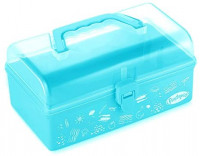 Funtopia Plastic School Supply Box, Art and Craft Storage Box, Tool Box for Kids, Children, Storage Container and Case with Latch and Handle, Perfect for Craft Items, Toys, Stationery and More - Blue: Home Improvement