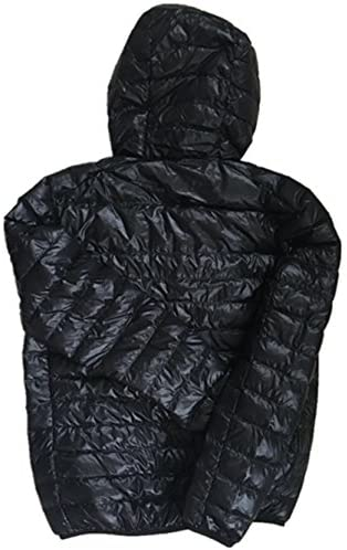 Lanmay Men's Ultralight Packable Hooded Down Jacket Puffer Down Coats at Men's Clothing store