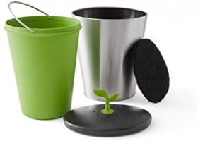 Chef'n 401-420-120 EcoCrock Counter Compost Bin Black/White 3.3 liter 1: Home & Kitchen