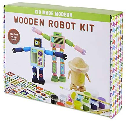 Kid Made Modern Wooden Spaceship Kit - Kids Arts and Crafts Toys: Toys & Games