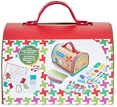 Kid Made Modern Holiday Crafts Design Your Own Holiday Cards Kit - Send Letters to Santa Friends and Family: Toys & Games