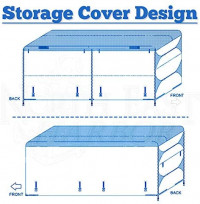 Waterproof Durable RV Motorhome Travel Trailer/Toy Hauler Cover Fits Length 20'-22' Travel Trailer Camper Zippered Panels Allow Access To The Door, Engine, Side Storage Areas, and Ramp Door: Automotive
