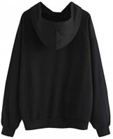 SweatyRocks Women's Hoodie Letter Print Long Sleeve Hooded Sweatshirt Pullover Top: Clothing