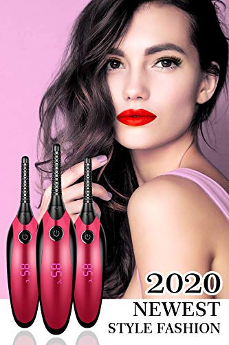 Electric Eyelash Curler, JDO Heated Eyelash Curler 【2020 NEWEST】 Mini USB Eye Lash Curling Clip with LED Display 4 Temperature Gears Quick Heating Natural Long-lasting Eye Beauty Makeup Tools : Beauty