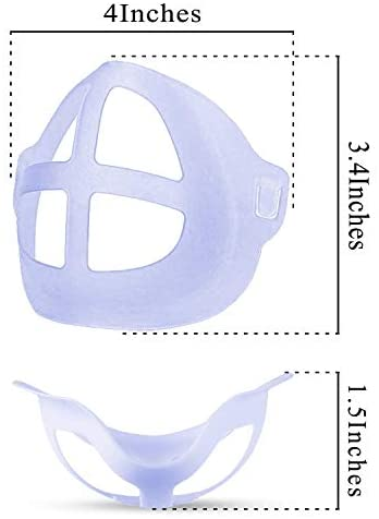 [10PCS]3D Mask Face Bracket,Face Mask Inner Support Frame for Comfortable Wearing,Washable and Reusable Translucent Internal Support Frame Bracket(Blue): Health & Personal Care