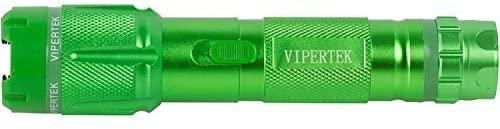 VIPERTEK VTS-T03 - Aluminum Series 59 Billion Heavy Duty Stun Gun - Rechargeable with LED Tactical Flashlight, Green : Sports & Outdoors