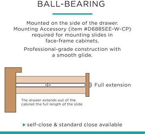 Liberty D68822C-W-TS 22-Inch Bottom Mount Drawer Slide: Home Improvement