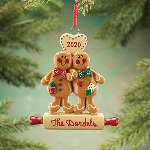 Personalized Gingerbread Couple Ornament: Home & Kitchen