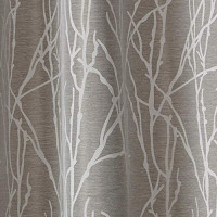 Exclusive Home Curtains Finesse Branch Print Grommet Top Curtain Panel Pair, 54x84, Ash Grey, 2 Count: Home & Kitchen