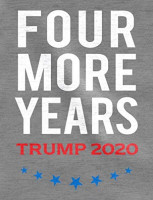 Four More Years Vote Donald Trump 2020 3/4 Sleeve Baseball Jersey Shirt at Men's Clothing store