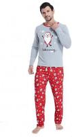 MyFav Matching Family Christmas Pajamas Set Soft Cotton Clothes Sleepwear at Men's Clothing store